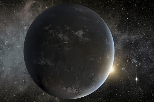 Экзопланета обнаруженная телескопом Кеплер (Фото:NASA)