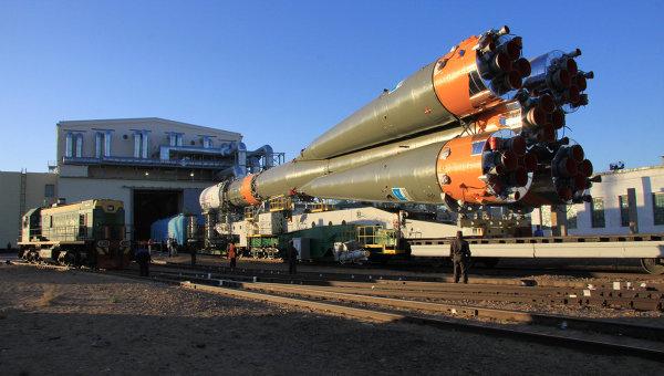 РК «Союз-У» и спутник «Иджипсат» установлены на стартовом комплексе