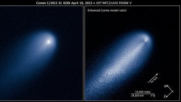 Комета ISON была сфотографирована «Спитцером» перед сближением с Солнцем