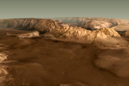 Трехмерная карта Марса представлена астрономами