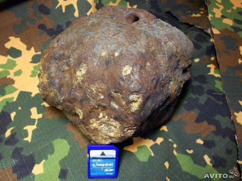 Осколок Челябинского метеорита весом 3,4 килограмма продает житель Челябинска