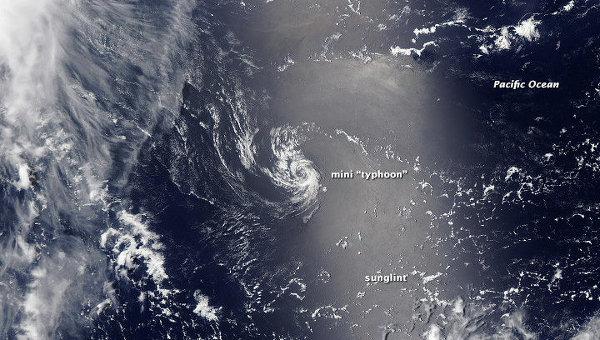 «Минитайфун» попал на фотографии, сделанные спутниками «Электро-Л» и «Терра»