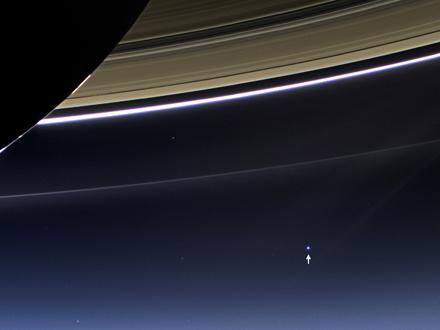 NASA удалось сделать фотографии Земли с Меркурия и Сатурна