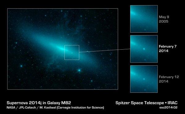 Сверхновая в созвездии Большой Медведицы была сфотографирована телескопом «Хаббл»